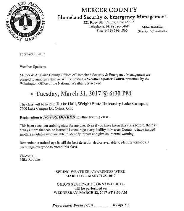 Ohio's Statewide Tornado Drill