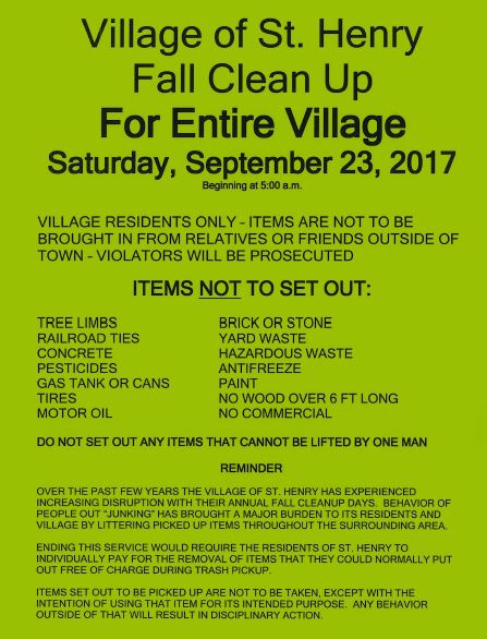 Village Fall Clean Up