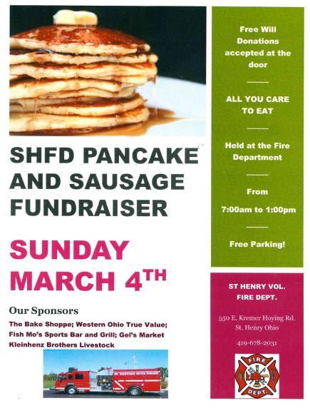SHFD Pancake & Sausage Fundraiser