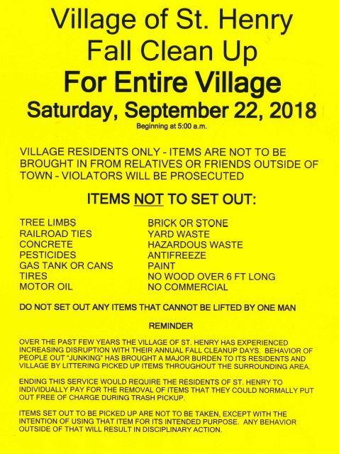 Village Clean Up 2018