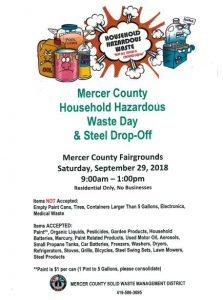 Mercer County Household Hazardous Waste Cleanup Day